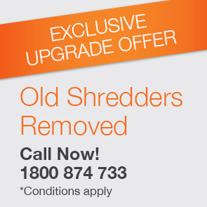 Paper shredder free upgrade offer